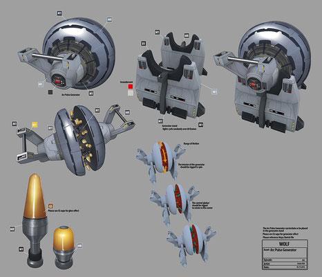 Arc Pulse Generator Konzeptzeichnung von Andre Kirk