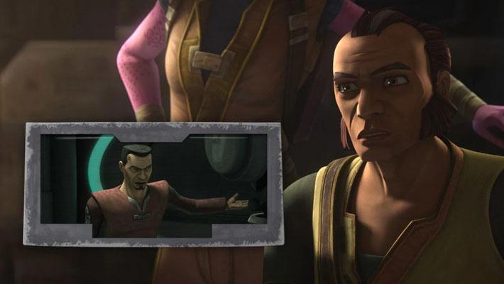 Während die Mitglieder des Bad Batch erst jetzt erfahren, dass den Klonen ein Chip eingesetzt wurde, war dies bereits in der 6. The Clone Wars Staffel thematisiert worden.