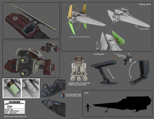 Astromchdroide und V-Wing