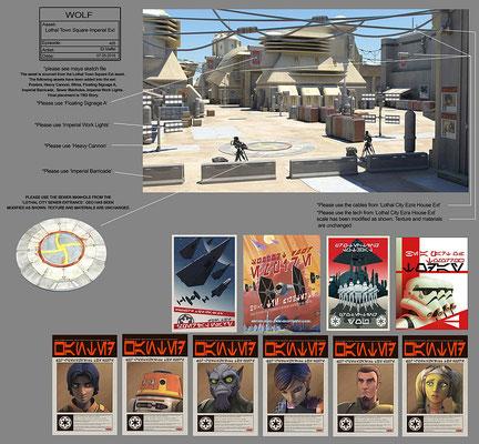 Lothal Stadtplatz Konzeptzeichnung von Eli Maffei