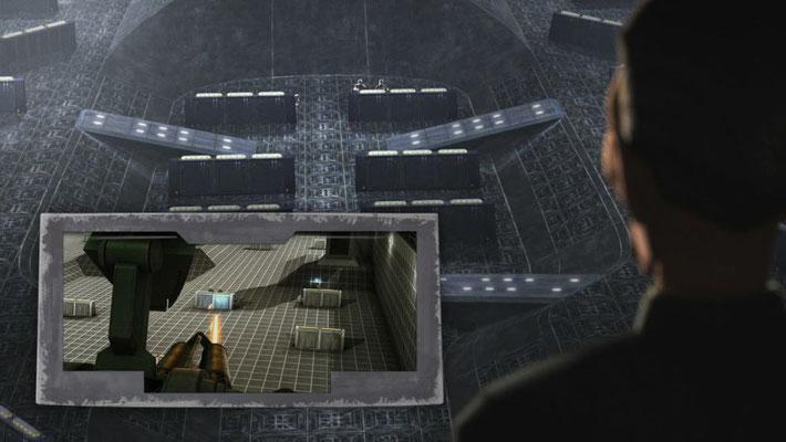 """Der Trainingsraum ist der selbe, der zuerst in der The Clone Wars Folge """"Kadetten"""" zu sehen war."""