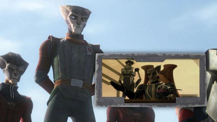 Zygerrianer wurden erstmals 1987 erwähnt und feierten ihr Debut in The Clone Wars / Staffel 4, Episode 11