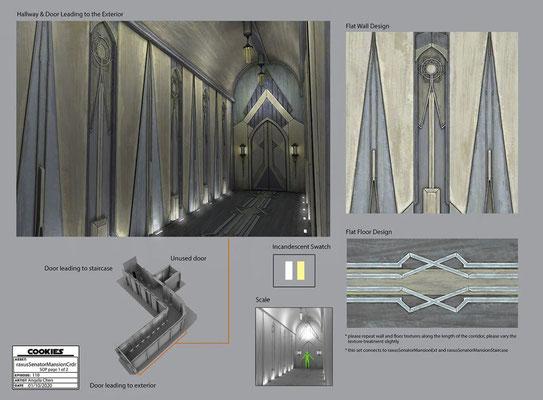 Senatoren-Villa Korridore auf Raxus