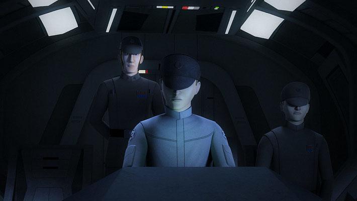 Der imperiale Captain des Transportschiffes ist namenlos, wurde aber in einem frühen Skript Captain Wells genannt.