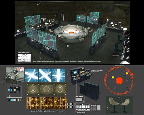 Kriegsraum auf Yavin IV / Konzeptzeichnung von Luke Harrington