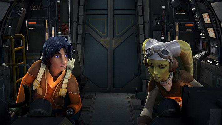 """Hera nennt ihre Wookiee-Fracht  einen übergroßen Monong. Im ersten Entwurf sagte sie noch """"Affe"""". Später wurde daraus ein trandoshanischer Affe, genannt Momong. So wurde eine neue Kreatur im Star Wars-Universum geschaffen."""