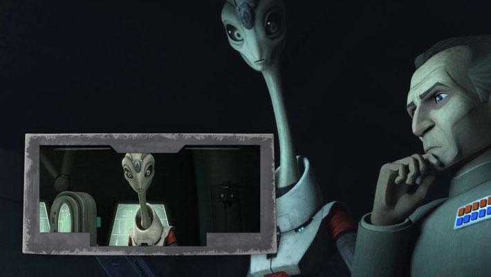 Nala Se, der u.a. für die Entwicklung der Klone verantwortlich ist, war auch in einigen The Clone Wars Folgen zu sehen.
