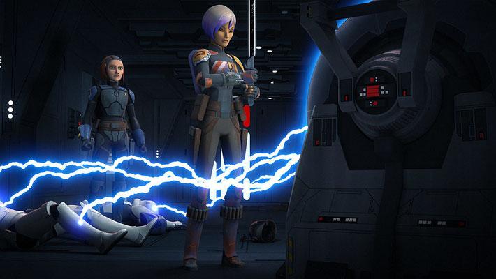 Zunächst war vorgesehen, dass Bo-Katan die Waffe gegen das Imperium nutzen wollte.