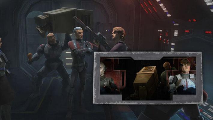 Wie in The Clone Wars benutzt Wrecker einen Gonk-Droiden für sein tägliches Training