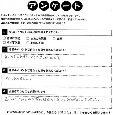 相席カフェイベント参加者アンケート6