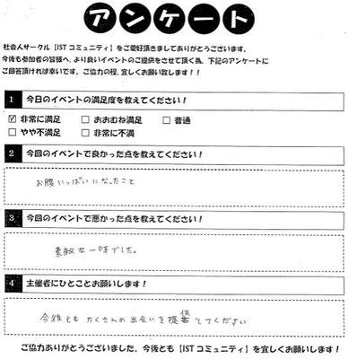 相席カフェイベント参加者アンケート1