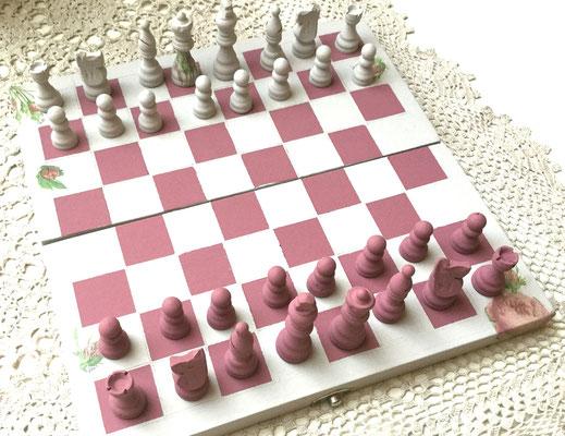Kreidefarbe Schachspiel