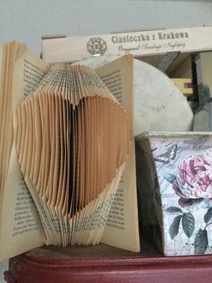 Book Folding Heart