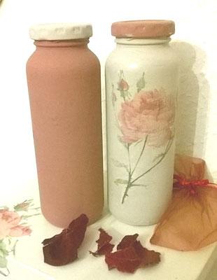 Kreidefarbe auf Flaschen