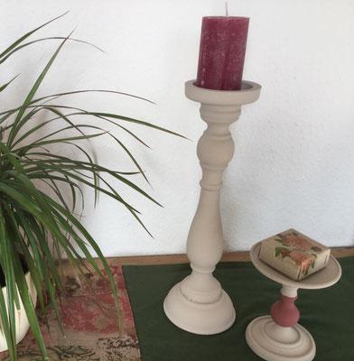 Kreidefarbe auf Kerzenständer