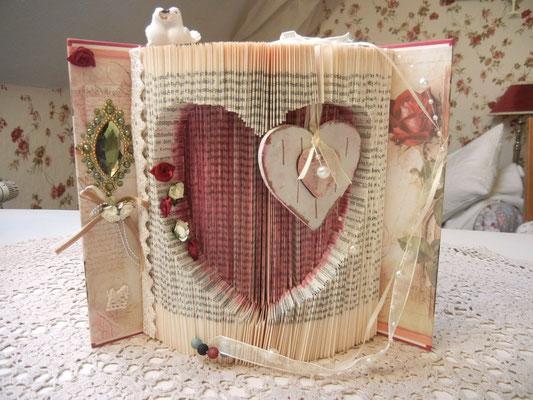 Book Folded Heart