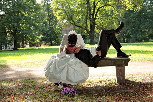 Fotoshooting mit Patricia und Michael im Grünfelder Park