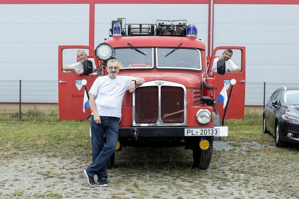 die Elsterberger Feuerwehr war mit einem S4001 in der Feuerwehrversion da