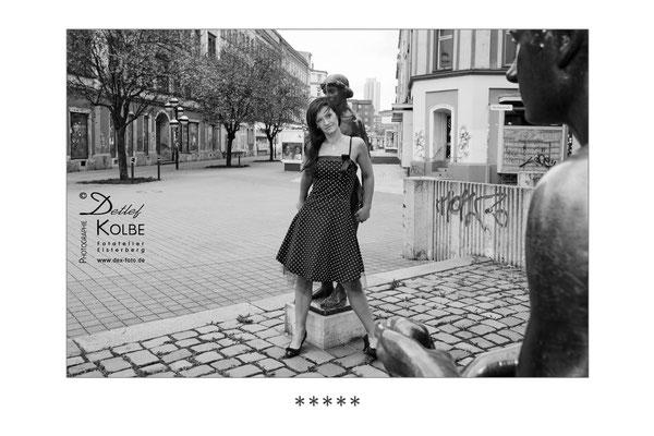 kleines Fashionshooting mit Elena auf dem Brühl in Chemnitz