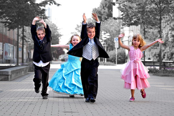 Festagskinder auf dem Chemnitzer Brühl