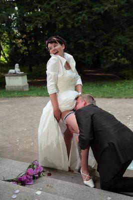 ein bischen Erotic darf auch bei Hochzeitsshooting nicht fehlen