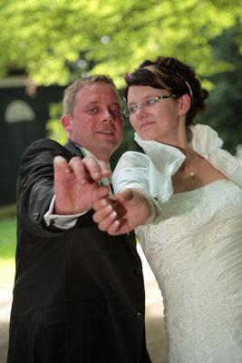 Brautpaarshooting im Grünfelder Park bei Waldenburg