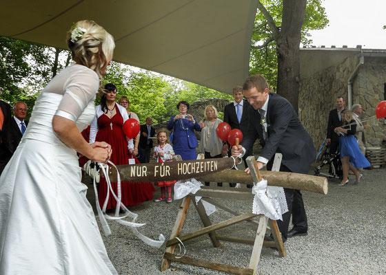 Burgruine Reichenfels - der Hochzeitsbrauch wird gepflegt