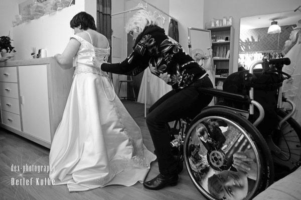 """Speednetti bei der Brautkleidanprobe beim Hochzeitsausstatter """"Hochzeitsträume"""" Plauen, bei Annette Multhaup"""