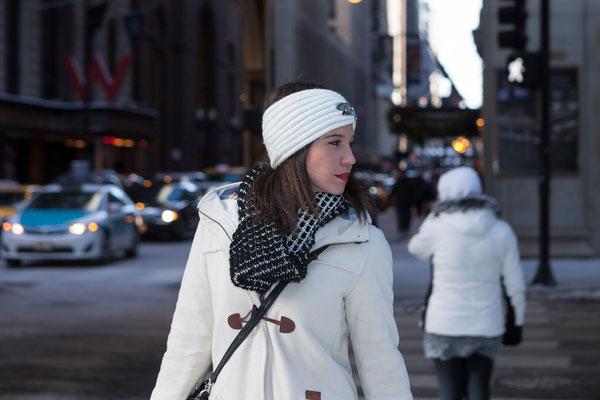 Fashionshooting mit Ellen in Chicago, S Franklin St.