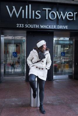 Fashionshooting mit Ellen in Chicago, Willis Tower
