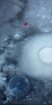 Time & Space II, 80x40 cm, Acryl auf Leinwand