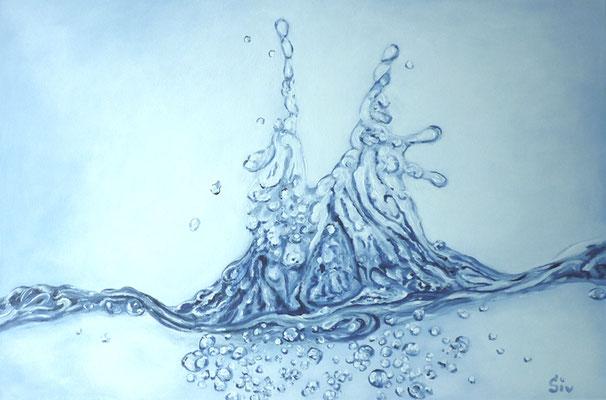 Magie des Wassers, 40x60 cm, Acryl auf Leinwand