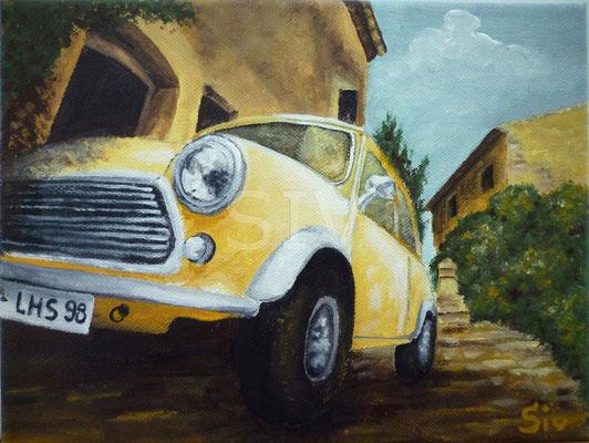 (*) Italien wir kommen, 20x30 cm, Acryl auf Leinwand
