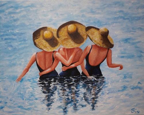 (*) Drei Grazien, 40x50 cm, Acryl auf Leinwand