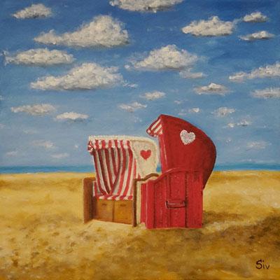 Sex on the beach, 40x40 cm, Acryl auf Leinwand