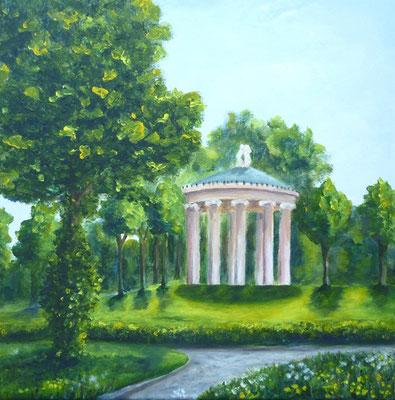 Tempelchen, 40x40 cm, Acryl auf Leinwand