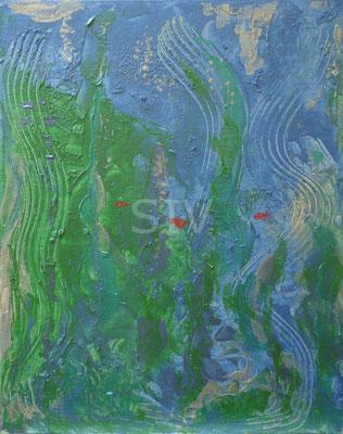 Arielles Welt, 30 x 24 cm, Acryl auf Malplatte