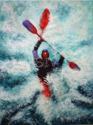 (*) Rafting, 40x30 cm, Acryl auf Leinwand
