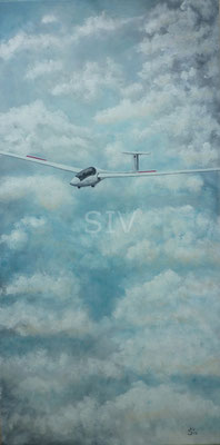 Nix wie weg, 50 x 100 cm, Acryl auf Leinwand
