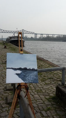 ein Bild entsteht... am Kreishafen Rendsburg