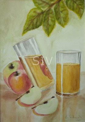 Äpfel und Apfelsäfte