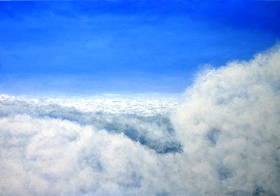 Über den Wolken I, 70x100 cm, Acryl auf Leinwand