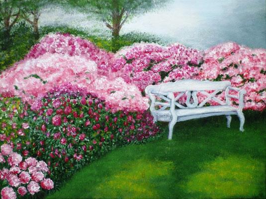 (*) Rhododendron Traum, 30x40 cm, Acryl auf Leinwand