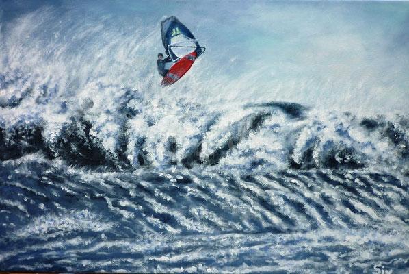 Storm Chase, 40x60 cm, Acryl auf Leinwand
