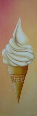 (*) Coole Schleckerei, 60x20 cm, Acryl auf Leinwand