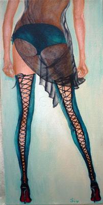 (*) Donna Calza, 50x25 cm, Acryl auf Leinwand