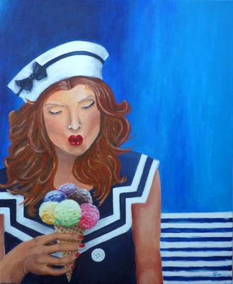 (*) Cold Kiss, 60x50 cm, Acryl auf Leinwand