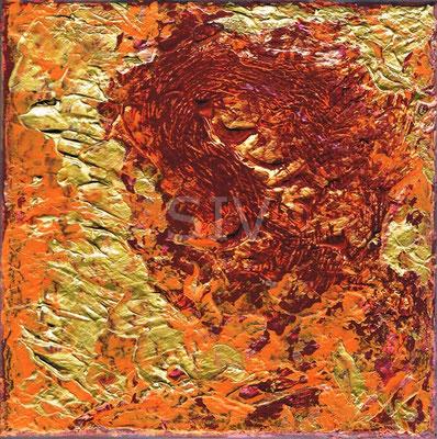 Beugung, 20x20 cm, Acryl auf Leinwand