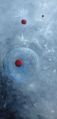 Time & Space I, 80x40 cm, Acryl auf Leinwand