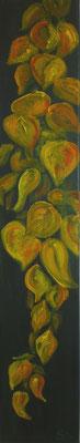 Herbstblätter II, 80x15 cm, Acryl auf Leinwand